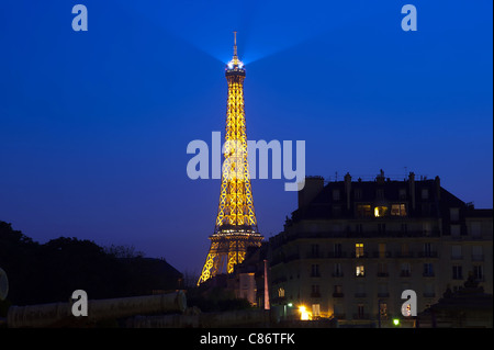 Eifel Tower in the Evening - Stock Image