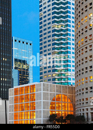 Tampa, Florida, downtown high-rise buildings. Rivergate Tower (right), Park Tower (left). - Stock Image
