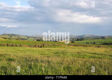 Landscape of Staffordshire Peak District National Park, England UK - Stock Image