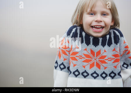 Portrait of happy girl - Stock Image