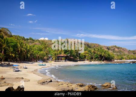 Costa Rica, Guanacaste, Nicoya Peninsula, Montezuma, Montezuma Beach - Stock Image