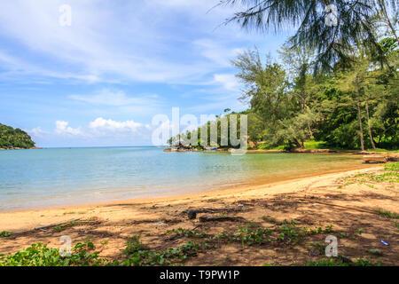 Beautiful sunny day at Nai Yang beach, Phuket, Thailand - Stock Image