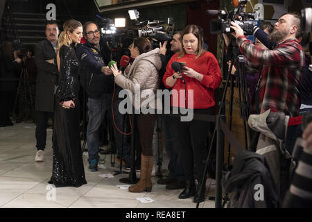 Actress Blanca Suarez attends 'Tiempo Despues (Time After)' film premiere held at Capitol Cinema  Featuring: Blanca Suarez Where: Madrid, Spain When: 20 Dec 2018 Credit: Oscar Gonzalez/WENN.com - Stock Image
