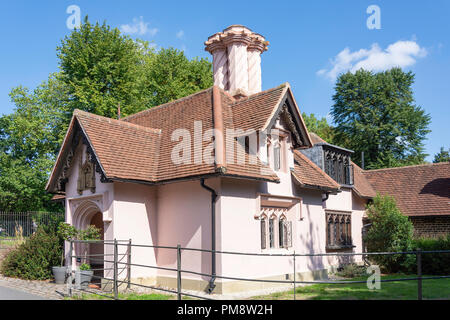 Gothic Lodge, Fulham Palace, Fulham, London Borough of Hammersmith and Fulham, Greater London, England, United Kingdom - Stock Image