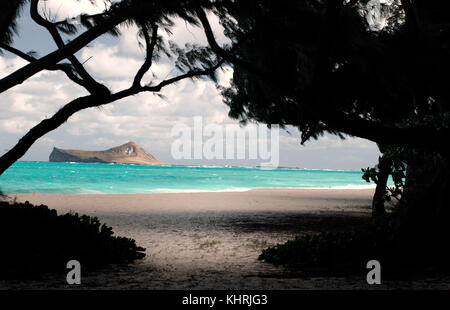 Waimanalo Beach - Oahu, Hawaii - Stock Image
