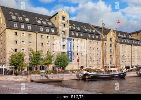 23 September 2018: Copenhagen, Denmark - The Admiral Hotel, a waterside hotel near the city centre. - Stock Image