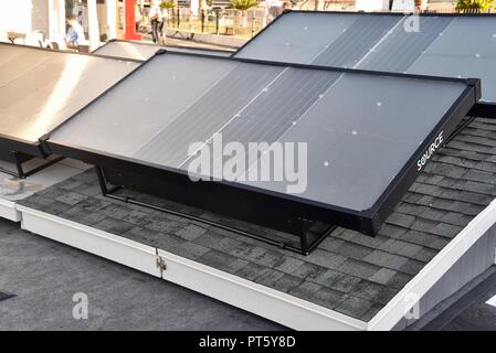Zero Mass Water SOURCE panel that makes water from air, at CES (Consumer Electronics Show), Las Vegas, USA. - Stock Image