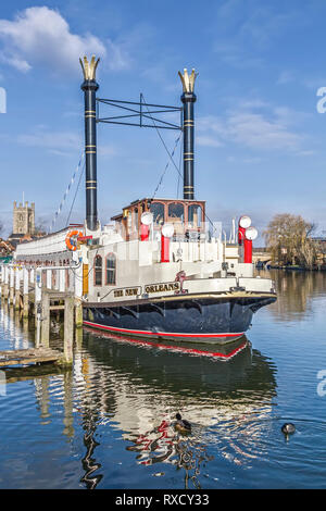 Paddle Steamer New Orleans Henley On Thames UK - Stock Image