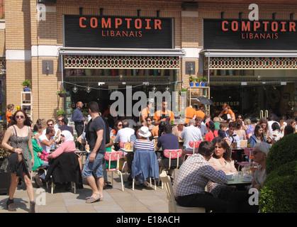 Comptoir Libanais restaurant Duke of York Square Chelsea London - Stock Image