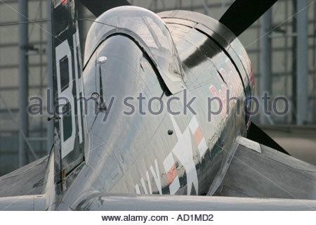 Zeltweg 2005 AirPower 05 airshow Austria Corsair F4U of Red Bull, rear view - Stock Image
