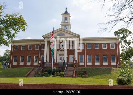 Greeneville, TN, USA-10-2-18: The stately Greeneville Town Hall. - Stock Image