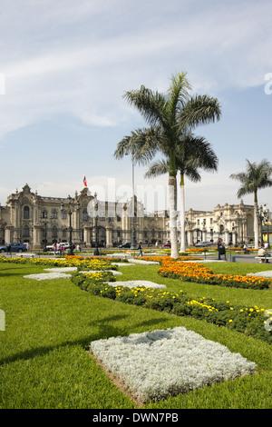 The Government Palace of Peru, House of Pizarro, Lima, Peru - Stock Image