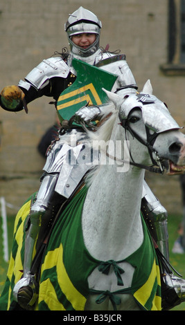 Mounted knight - Stock Image