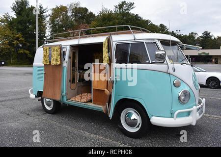 A Volkswagen microbus camper van. - Stock Image