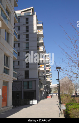 New apartments East Village Olympic Park Stratford London - Stock Image