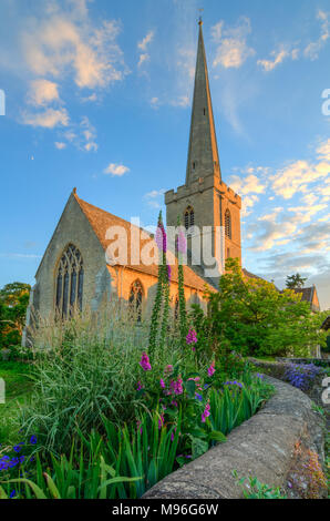 St Giles Church in Bredon, Woorcestershire - Stock Image
