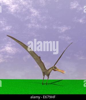 Dinosaurier Anhanguera / dinosaur Anhanguera - Stock Image