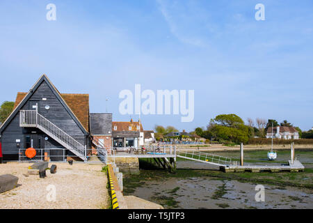 The sailing club clubhouse in Chichester harbour at Dell Quay, West Sussex, England, UK, Britain - Stock Image