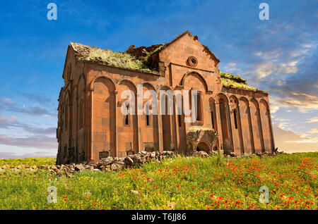 The cathedral of Ani, Also known as Surp Asdvadzadzin (church of the Holy Mother of God), its construction was started in the year 989, under King Smb - Stock Image