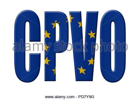 Digital Illustration - EU agency. CPVO Community Plant Variety Office, Gemeinschaftliches Sortenamt, Communautair Bureau voor plantenrassen - Stock Image