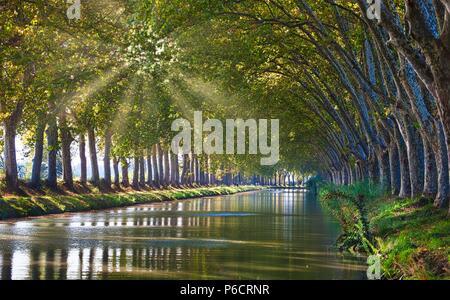France, Beziers City, Canal du Midi, unesco, - Stock Image
