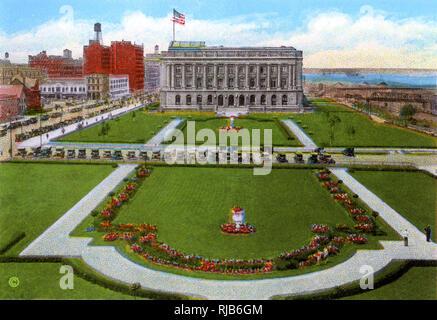 Cleveland, Ohio, USA - Cuyahoga County Court House. - Stock Image