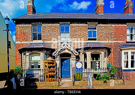 Helperby Stores and Delhi, Helperby, North Yorkshire, England - Stock Image