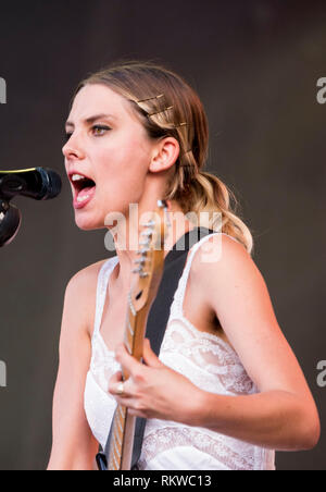 Wolf Alice performing live on the Obelisk Stage at Latitude Festival 2018. - Stock Image