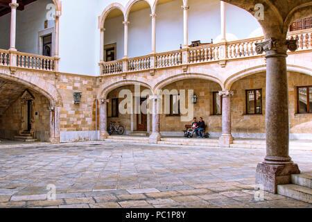 Courtyard in  Palma de Mallorca - Stock Image