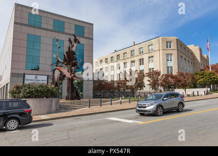 ASHEVILLE, NC, USA-10/17/18: Veach-Baley Federal Courthouse and Complex in downtown. - Stock Image