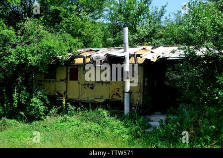 Shepherd  cabin -Valley of the Thracian Kings in Kazanlak- Province of Stara Zagora.BULGARIA - Stock Image