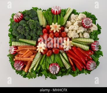 Raw Vegetable Platter - Stock Image