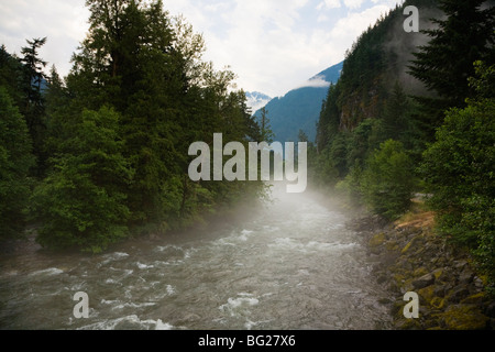 Silverhope Creek along the Silver-Skagit Road, British Columbia, Canada - Stock Image