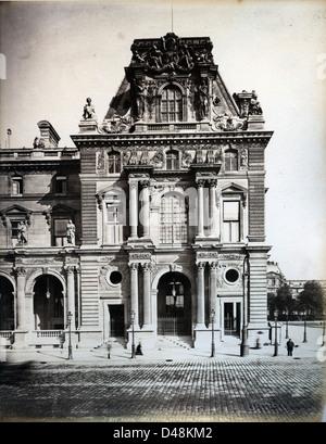 Pavilion Turgot, The Louvre, Paris, ca 1870, by Leon & Levy - Stock Image