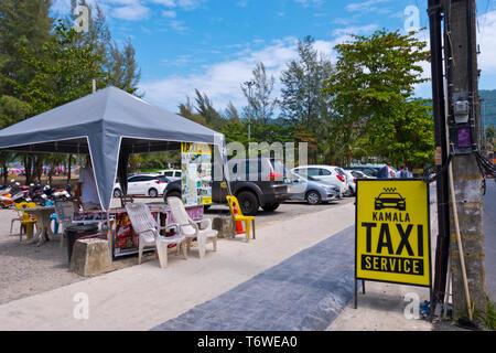 Taxi service, Kamala, Phuket island, Thailand - Stock Image
