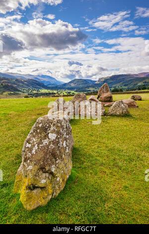 Castlerigg Stone Circle, a megalithic ring monument near Keswick, Cumbria. - Stock Image
