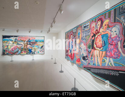 The adoration of the cage fighters by Grayson Perry - Stock Image