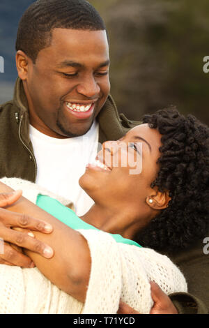 Portrait of a happy African American loving couple. - Stock Image
