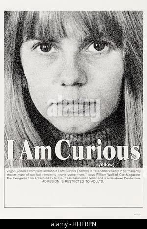 'I Am Curious (Yellow)' 1967, directed by Vilgot Sjöman and starring Vilgot Sjöman, Lena Nyman and Börje - Stock Image