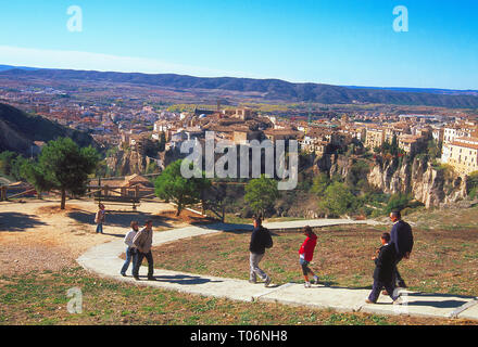 Overview of the town. Cuenca, Spain. - Stock Image