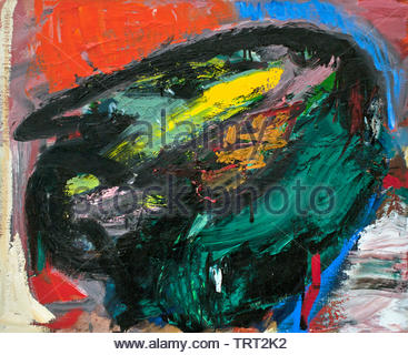 Conviction by Asger Jorn - Asger Oluf Jorn, born in 1914 Danish painter, sculptor, ceramic artist, and author.  ( Avant-Garde movement COBRA ) Denmark - Stock Image