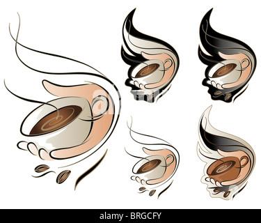 Coffee Sign Set - Stock Image
