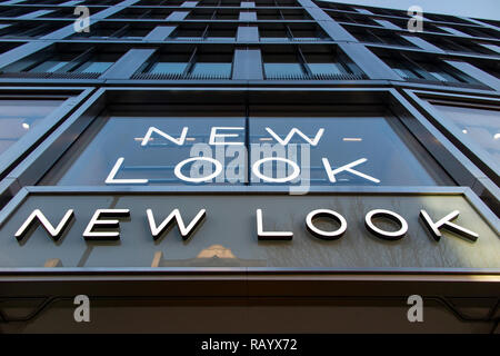 New Look fashion shop on Oxford Street, London - Stock Image
