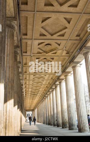 Germany, Berlin. Covered sidewalk at Old National Gallery. Credit as: Wendy Kaveney / Jaynes Gallery / DanitaDelimont.com - Stock Image