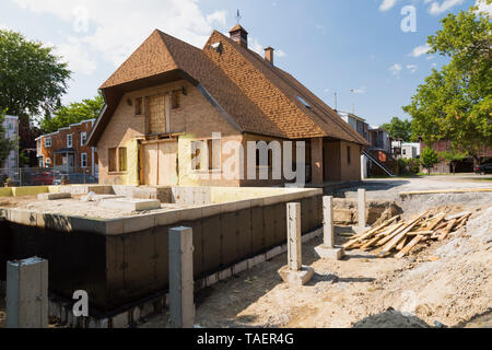 Conversion of a residential home property into a condominium and office building complex, Quebec, Canada - Stock Image