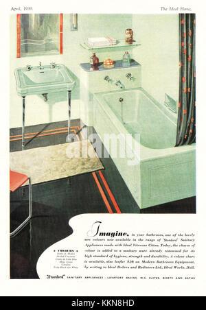 1939 UK Magazine Standard Bathrooms Advert - Stock Image