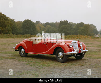 1950 Riley 2 5 litre RMC roadster S4 OHV twin cam engine producing 100bhp Built for US market Country of origin - Stock Image