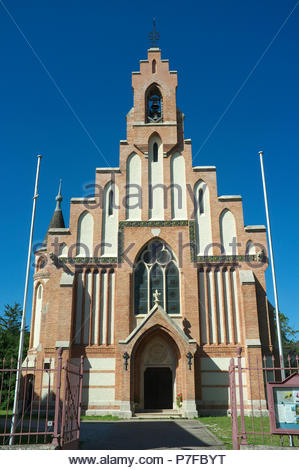 The protestant parish church in the city of Neunkirchen, in the Austrian state of Lower Austria. - Stock Image