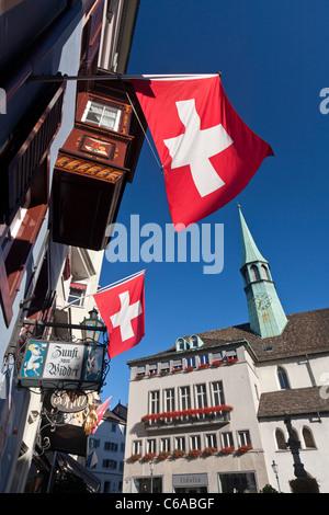 Old City Center, Widder, Zurich, Switzerland - Stock Image