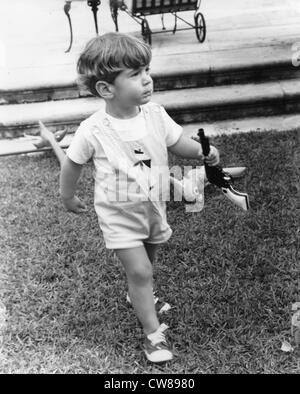 John F Kennedy Jr, son of President and Mrs John F Kennedy , at birthday party at the home of  Frank McMahon, February, - Stock Image